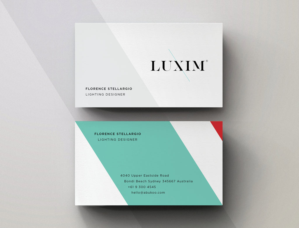 Minimal Business Card Design for LUXIM