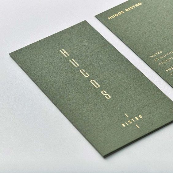 Business Card Design for Hugos Bristro