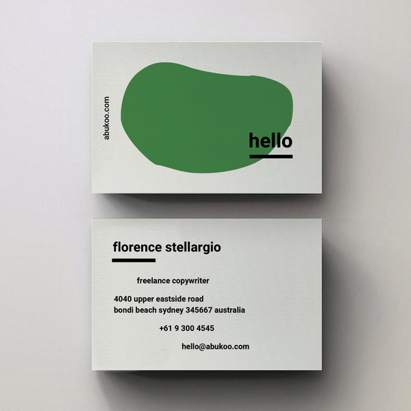 Hello Business Card Design - Editable PDF Template