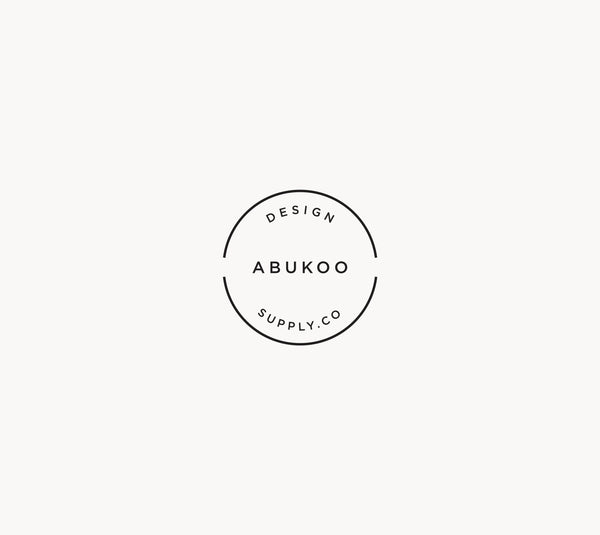 Minimal Business Card Design and Visual Identity for Abukoo