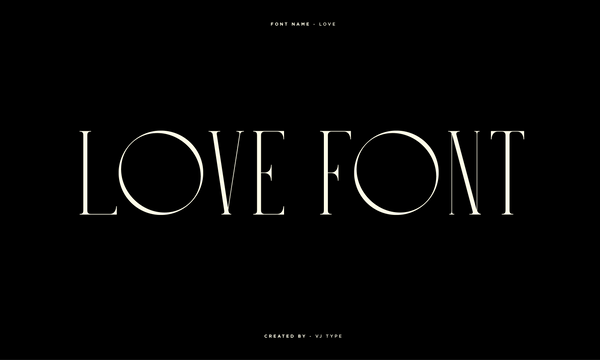 Typography Design By VJ Type