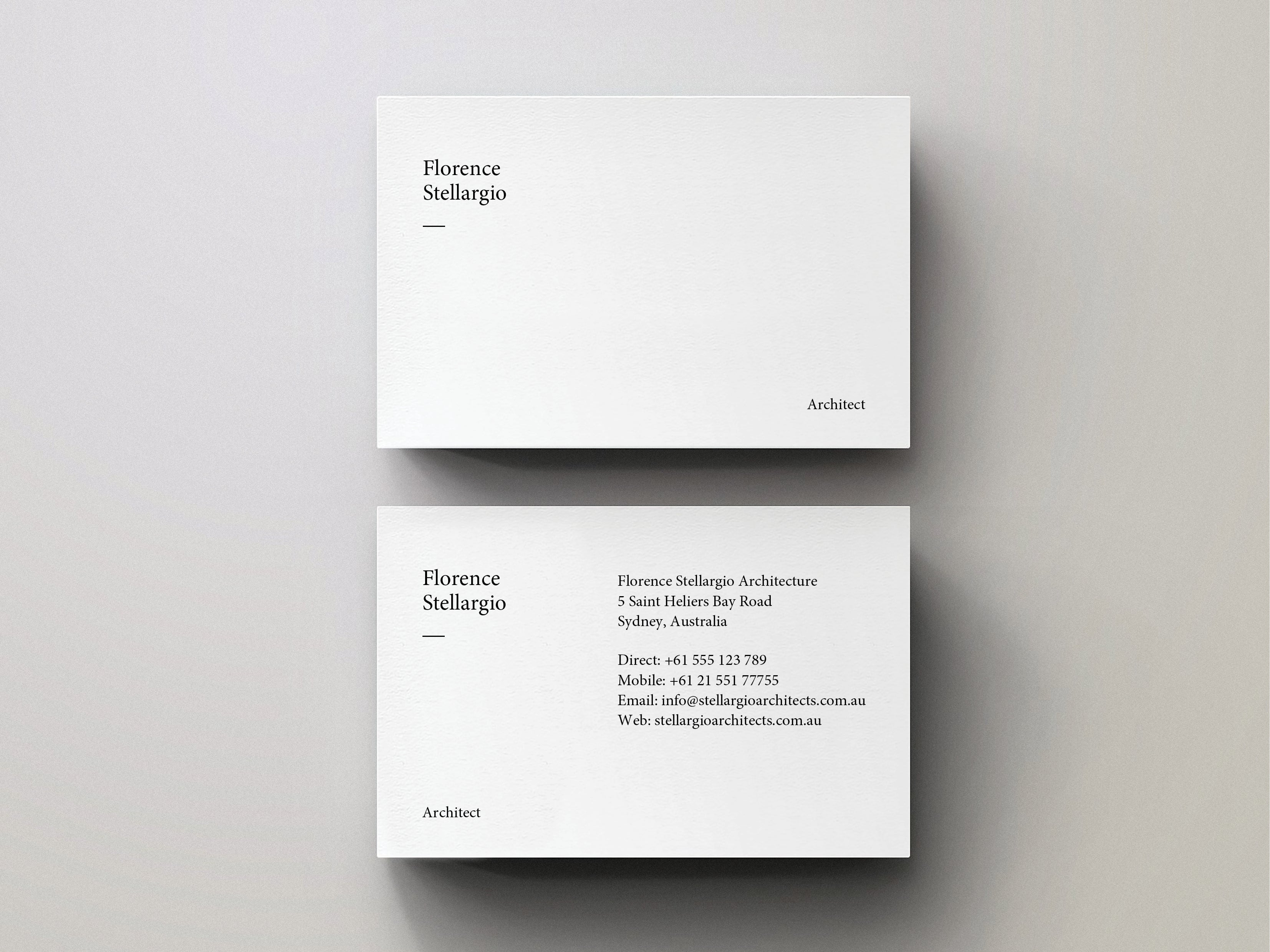 Minimal Business Card - Editable PDF Template