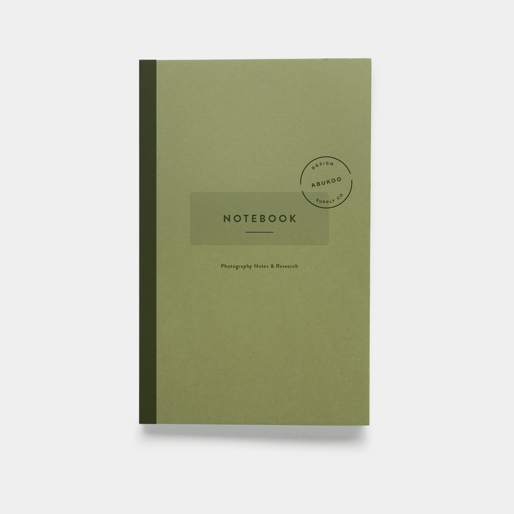 Photography Notebook Design