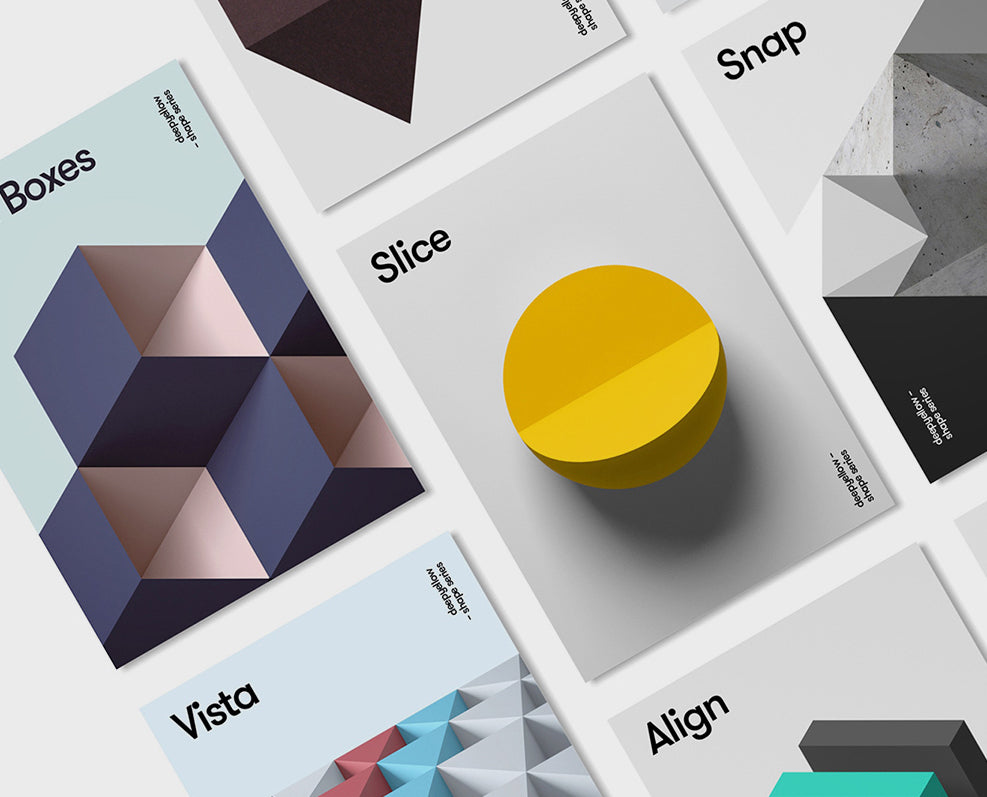Geometric Poster Design : By Deep Yellow