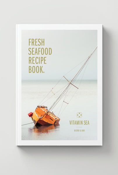 Recipe Book Cover Design For Vitamin Sea