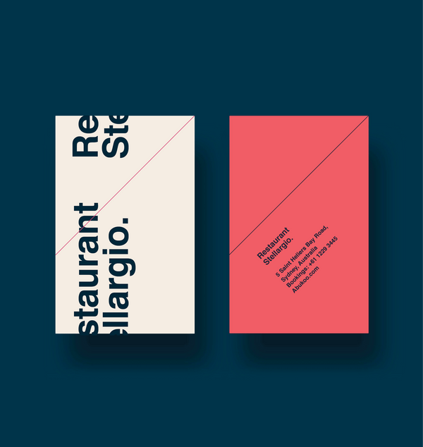 Business Card Design | Restaurant Branding