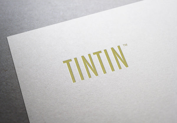 TINTIN Logo Design in Blush and Gold