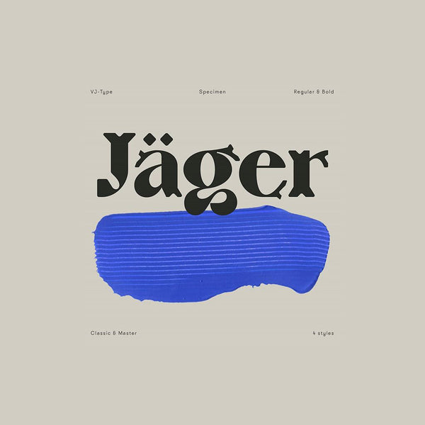Typography Design | Jäger by VJ Type
