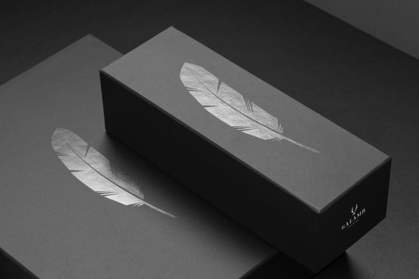 Stunning black on black design and branding for Galamb Tailoring