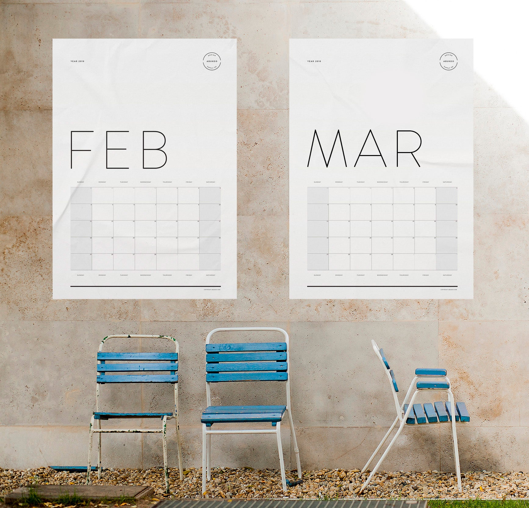 Free PDF 2018 Calendar Download