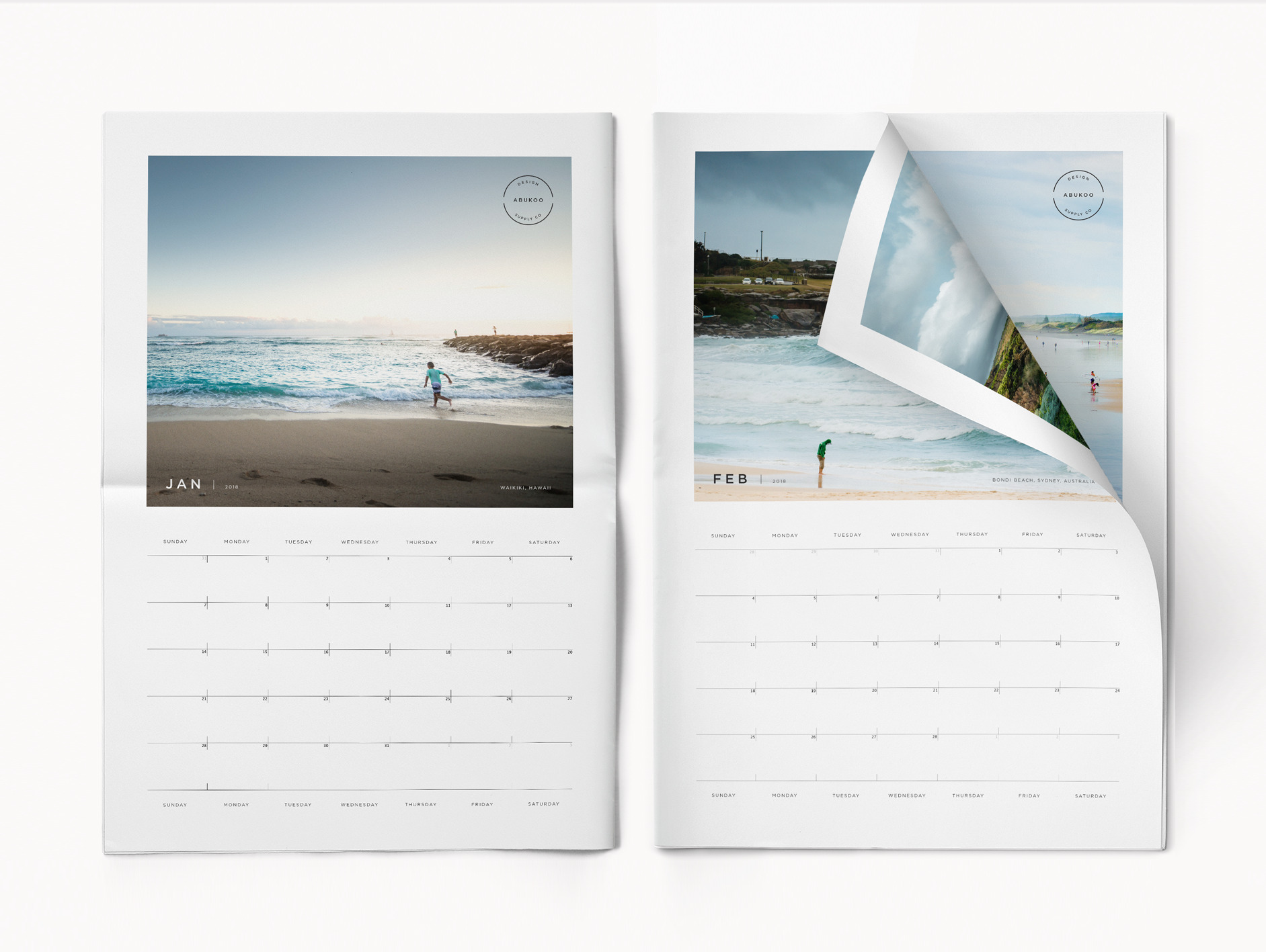 free calendar template Adobe Indesign