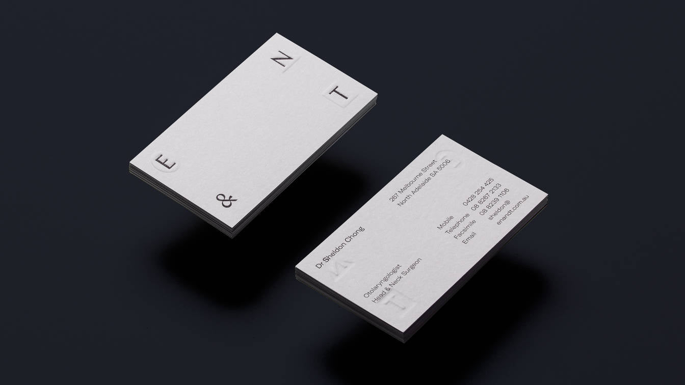 Private minimal Business card design