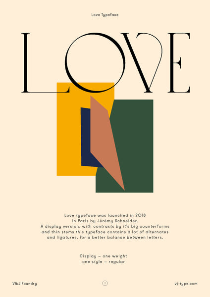 Love typeface design