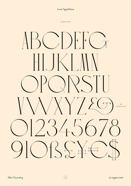Love type design
