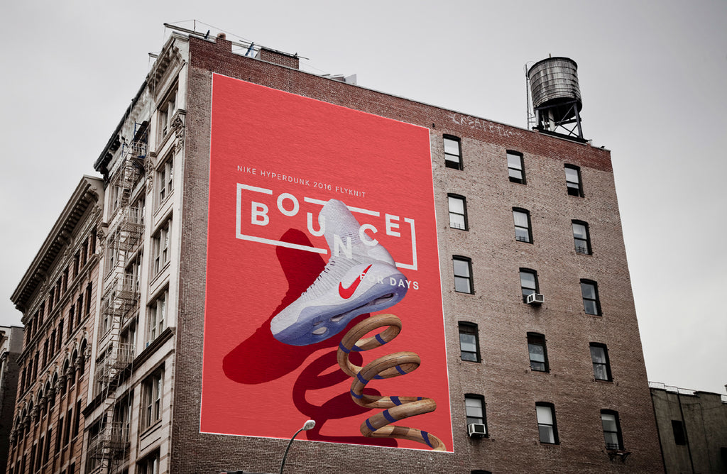 Nike billboard graphic design