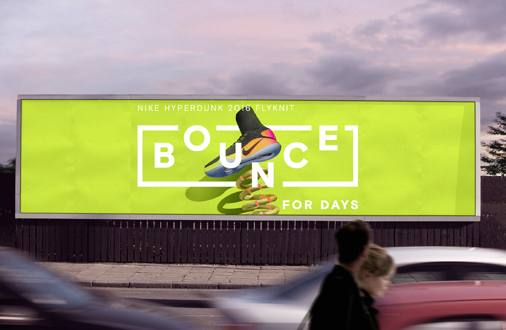Nike billboard design bounce