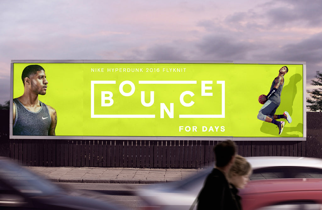 nike billboard design typography