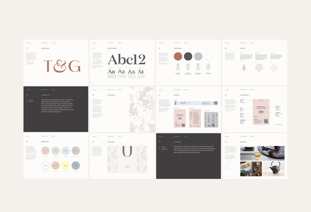 brand guidelines for Tea & Glory