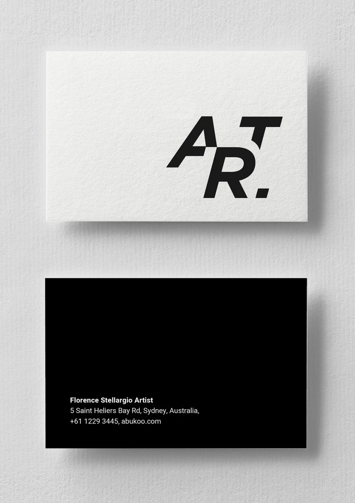 Art Business Card Design | Graphic Typography