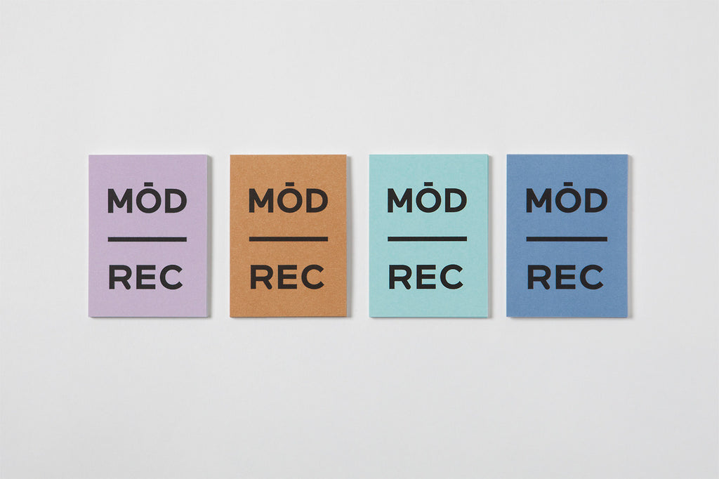 Minimal business card typography