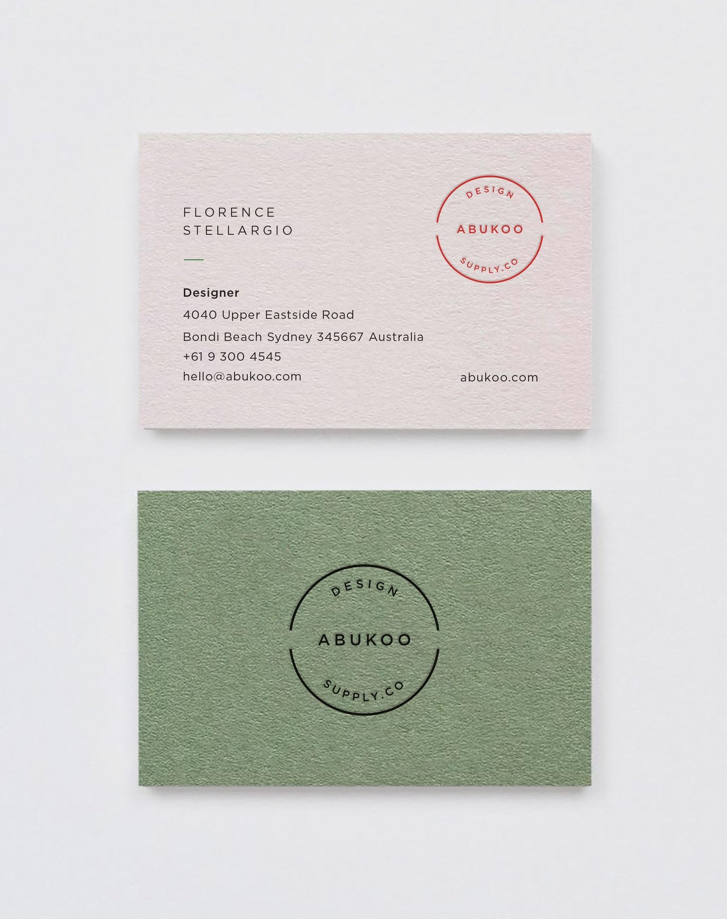 business cards abukoo