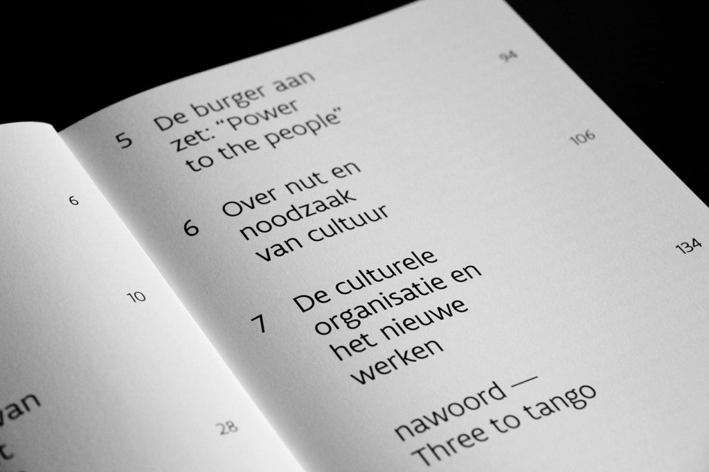 typography design contents page