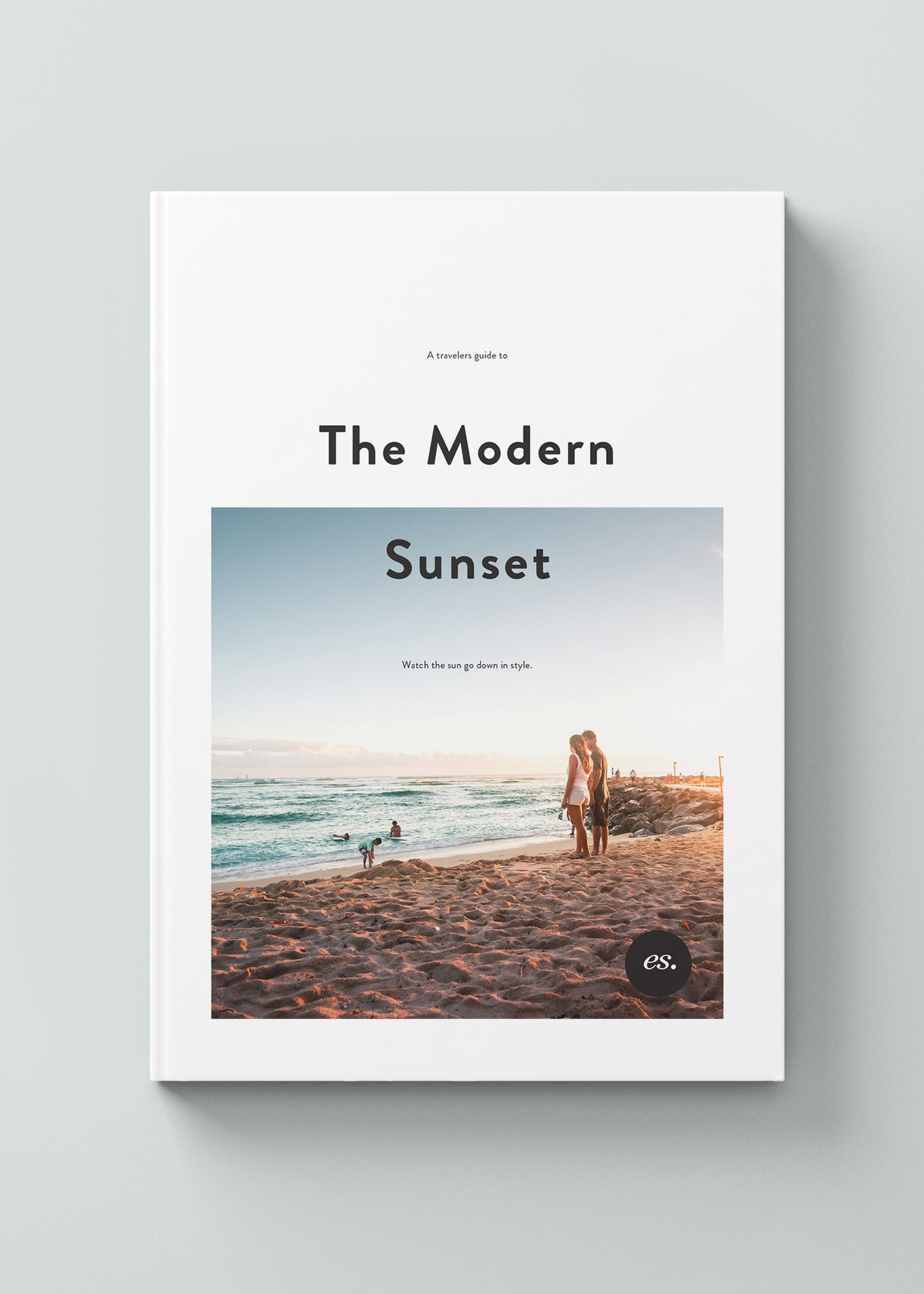 Cover Design for Modern Sunset Travel Photography Book
