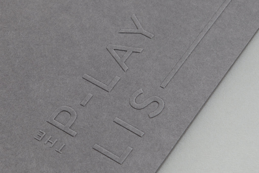 typography embossing