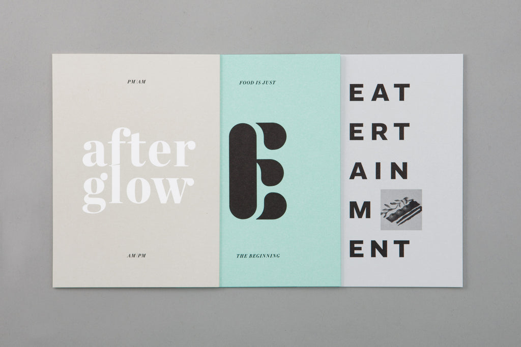 brochure layout & typography