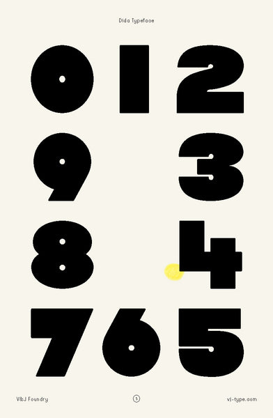 dida numbers typography design
