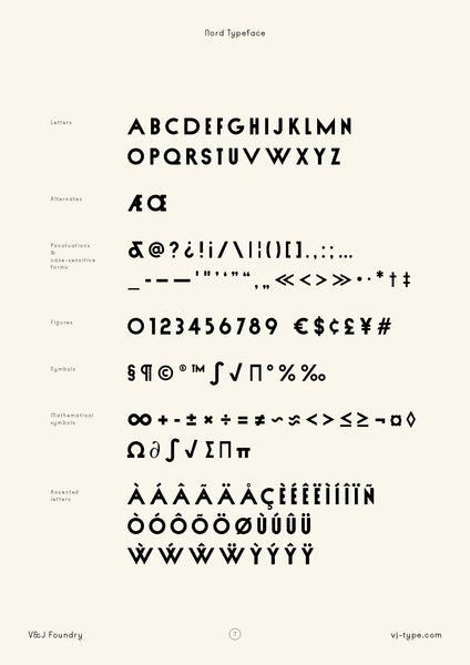 nord typography design