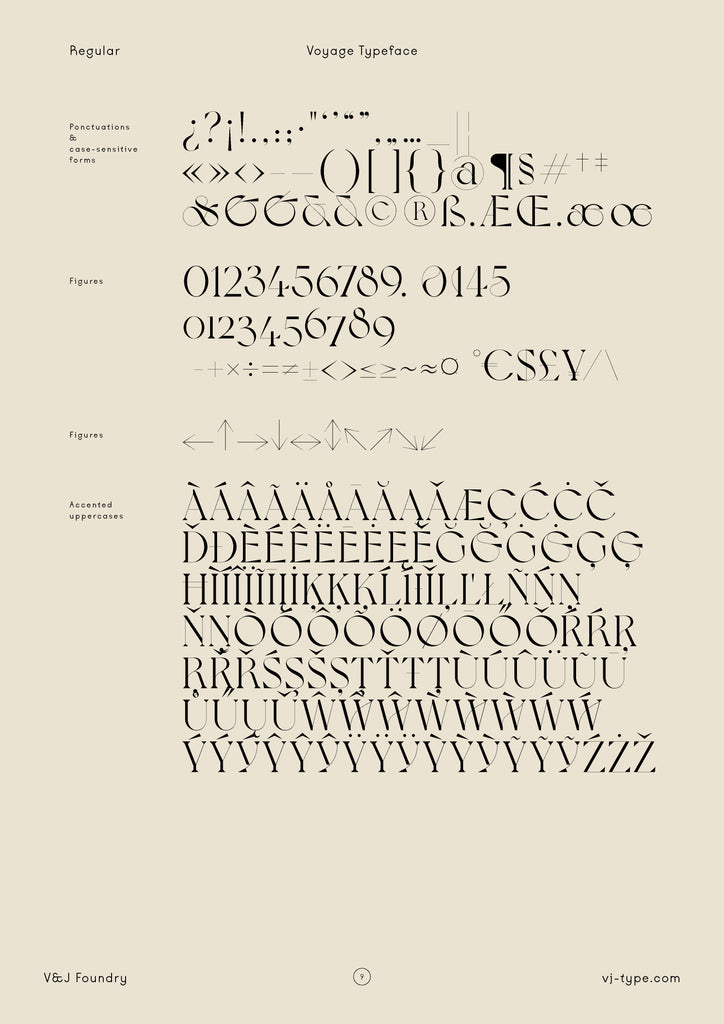 Font typography design