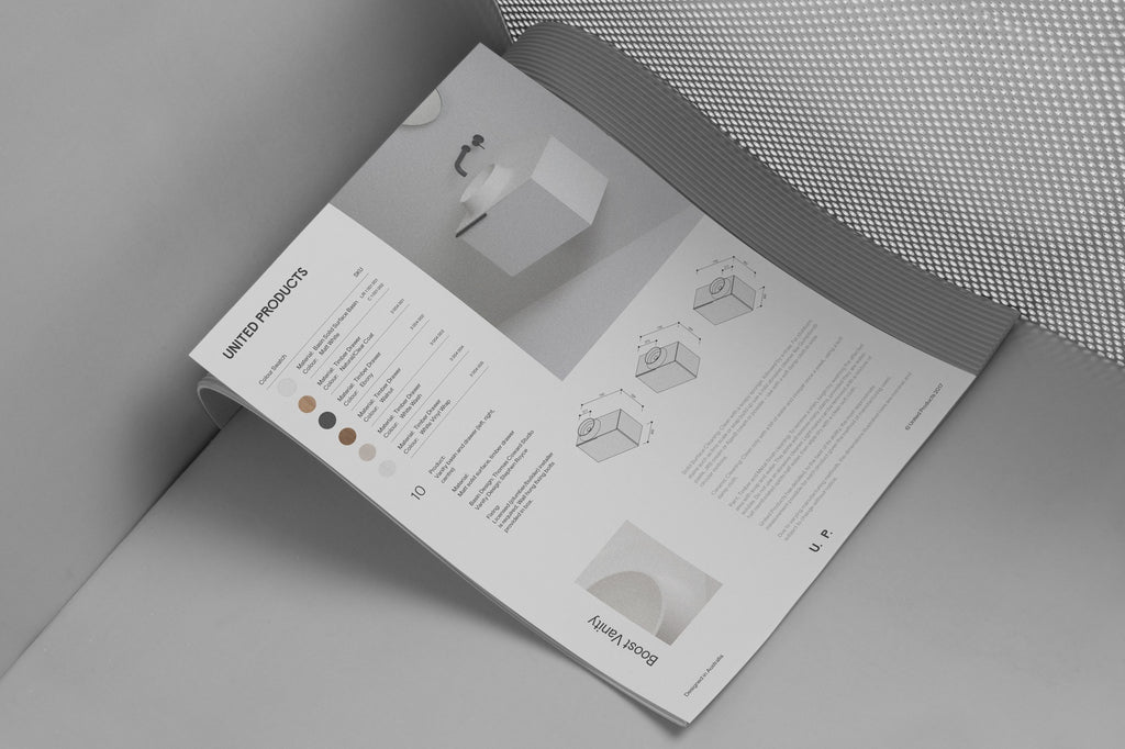 minimal pamphlet layout | graphic design by SP-GD