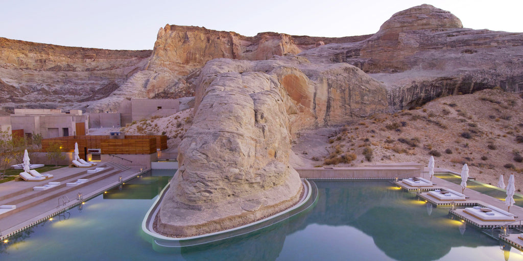 Hotel pool design for Amangiri