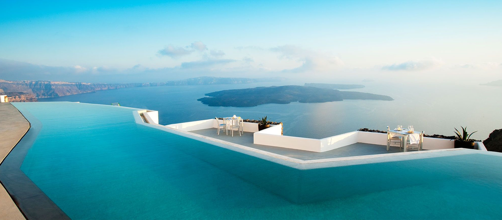 Amazing hotel pools Santorini grace hotel