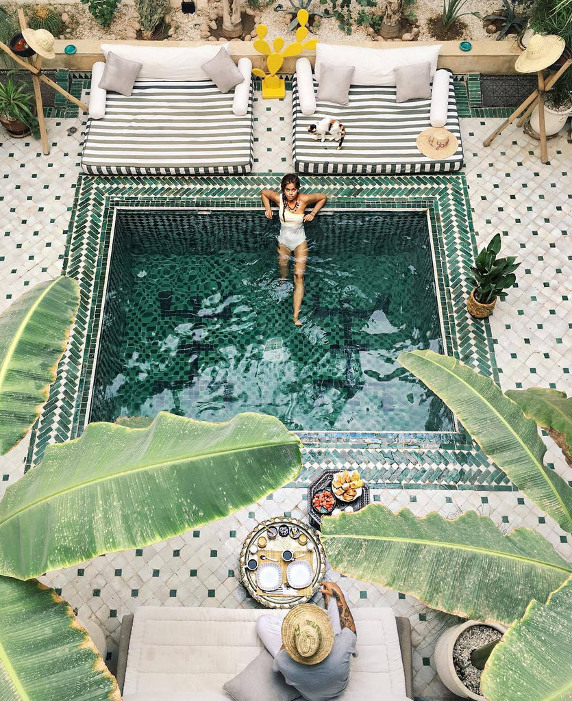 luxurious courtyard pool riad yasmine hotel