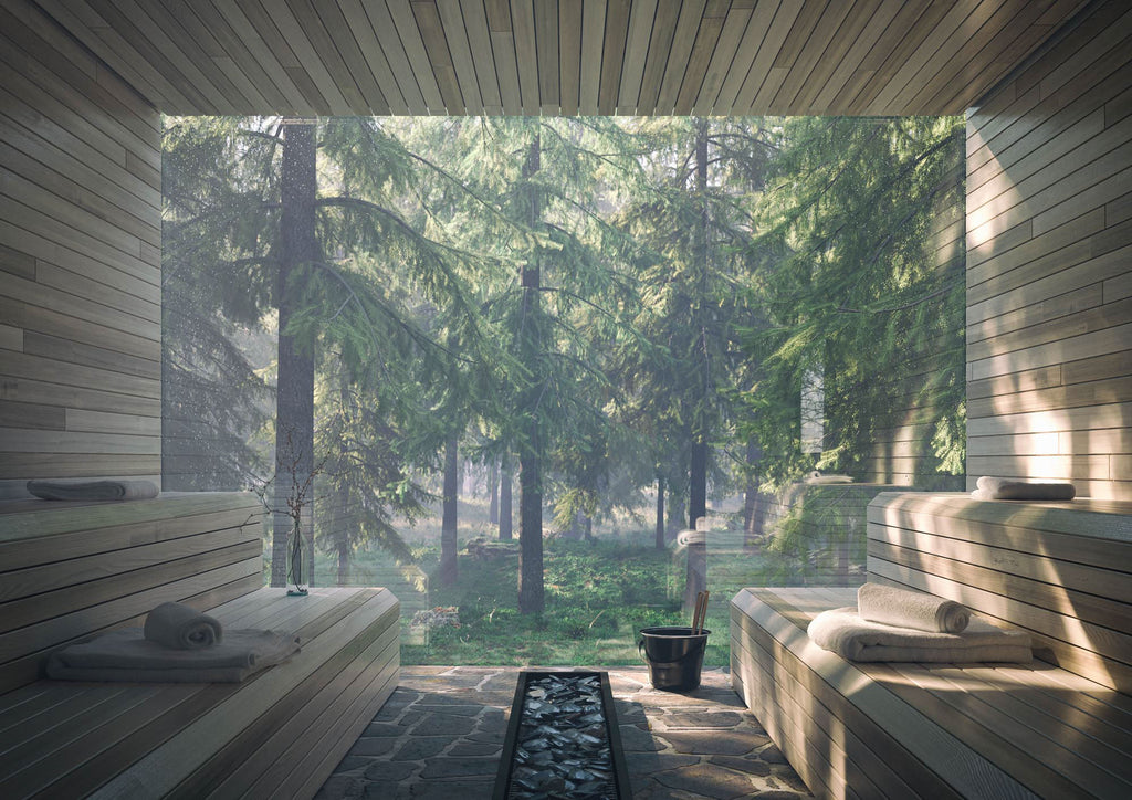Spa design timber interior