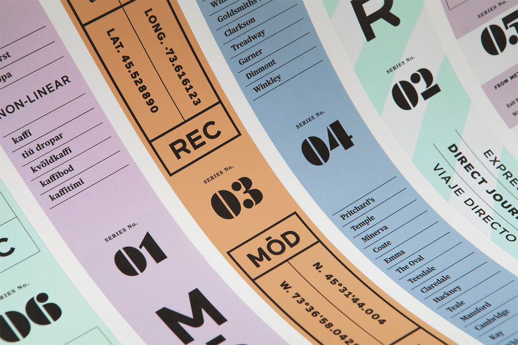 Label typography