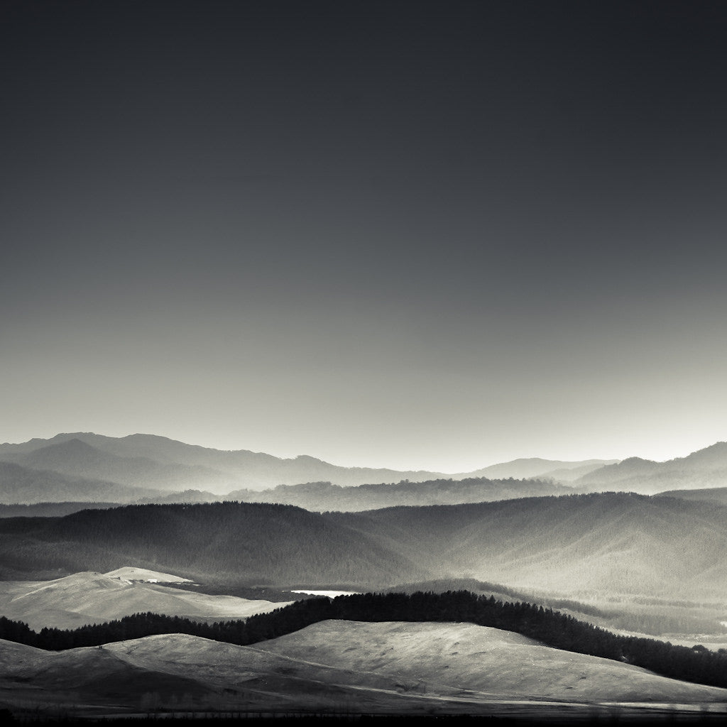 minimal black and white landscape photography