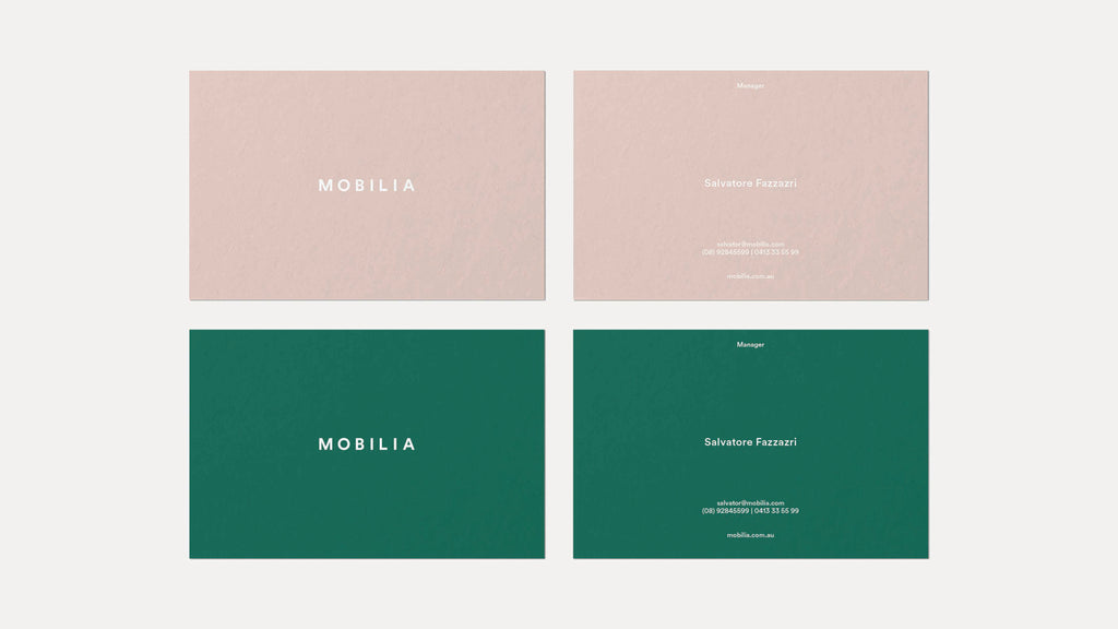 minimal business card designs green