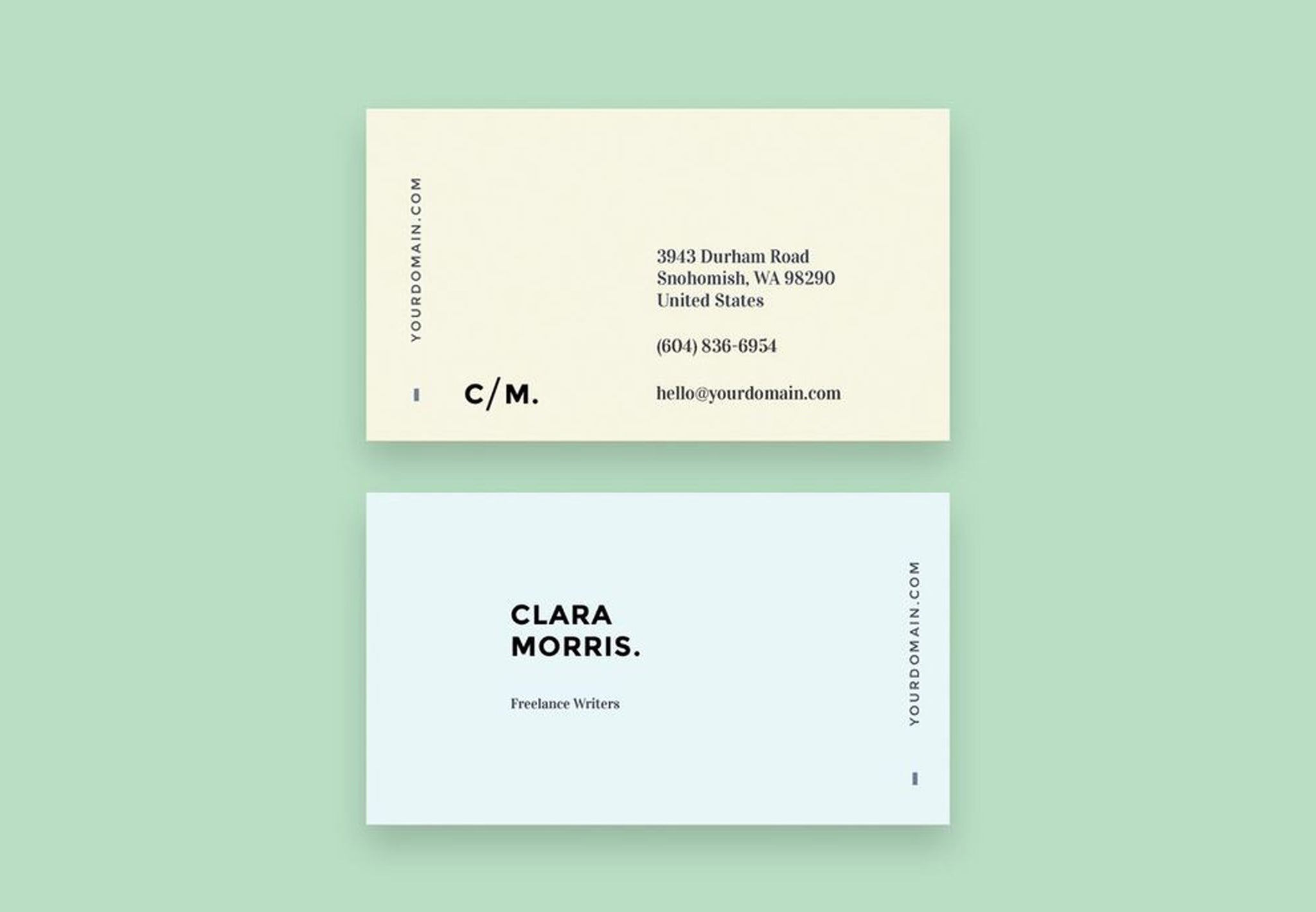 Minimal designed name card template