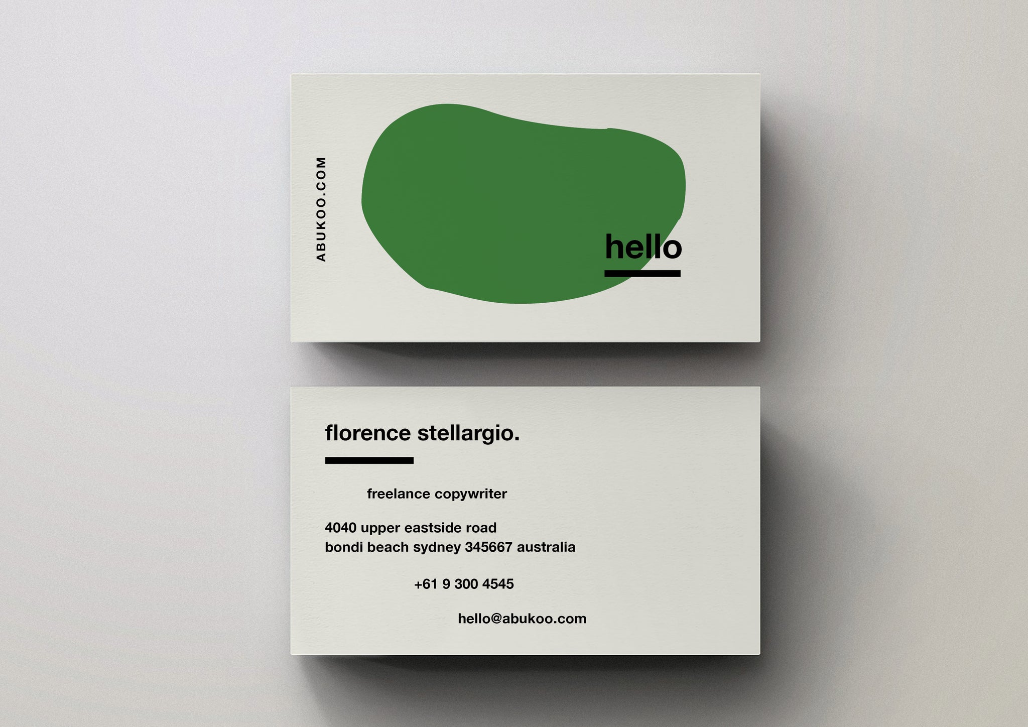 minimal business card template designs cuba gallery