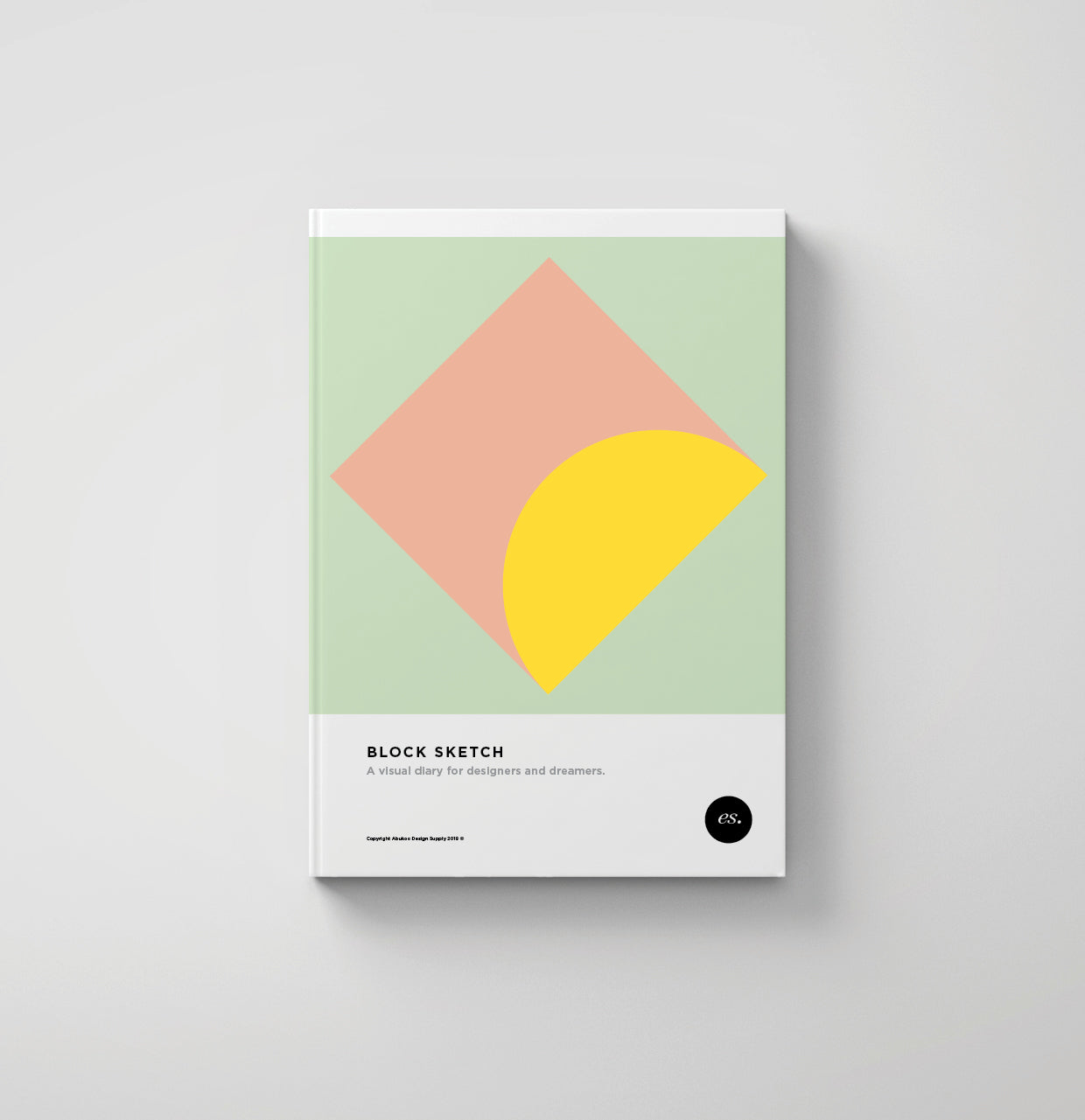 minimal design sketch book design