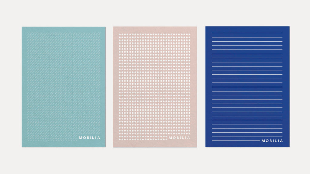 minimal pattern stationery design