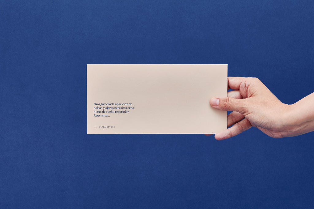 simple minimal envelope design for Altea Esteve