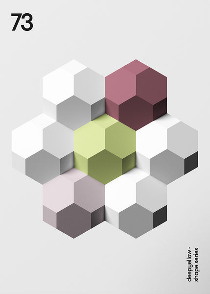 hexagon poster design layout