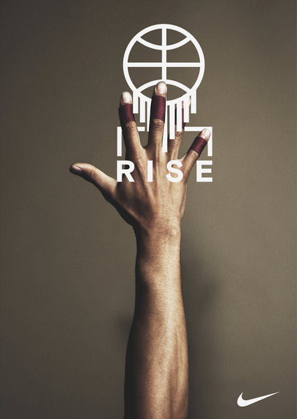 nike rise typography design