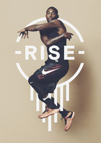 nike rise poster design