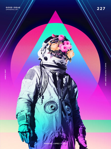 Colourful Geometric Layout | By Graphic Designer Magdiel Lopez