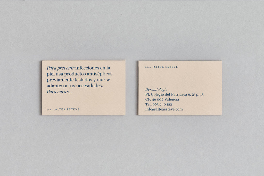 simple business card and stationery design for Altea Esteve